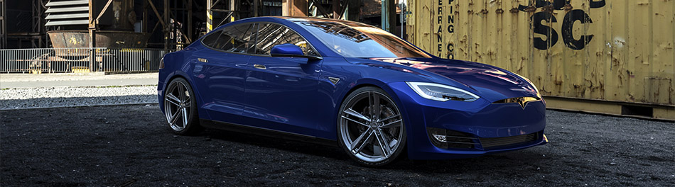 Tesla Model S Gunmetal Wheels from Ohm Rotary Forged