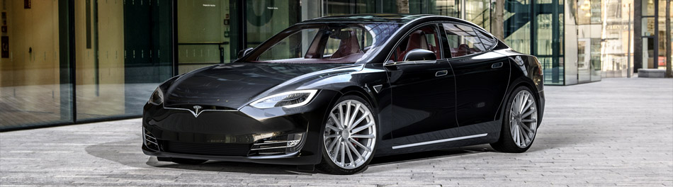 Tesla Model S Silver Wheels from Ohm Rotary Forged